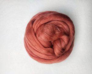 Weefproject donker roos